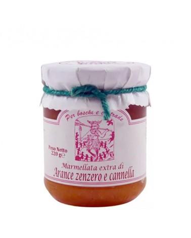 Marmellata extra di Arance, zenzero e cannella 220 gr - Per Boschi e Contrade