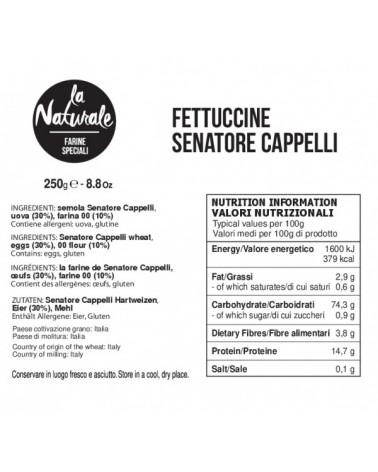 Fettuccine Senatore Cappelli - Pasta artigianale valori nutrizionali