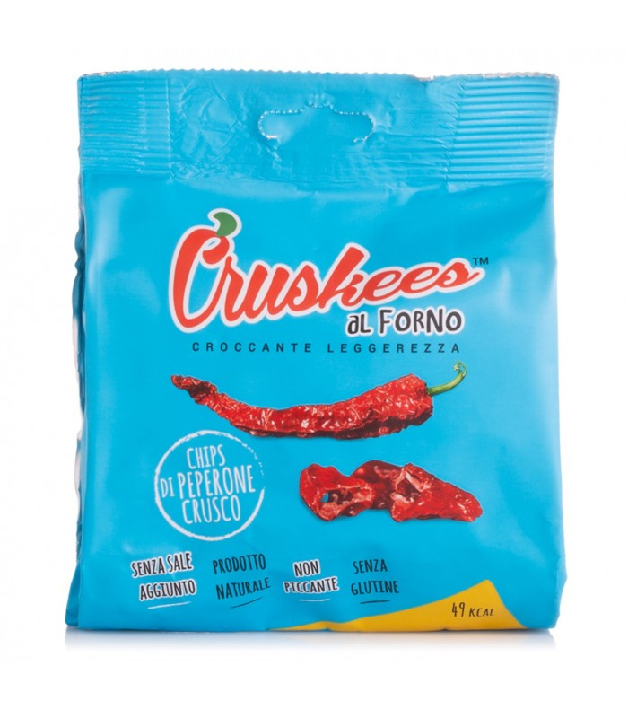 Chips di Peperone Crusco al forno - 15 gr - Cruskees
