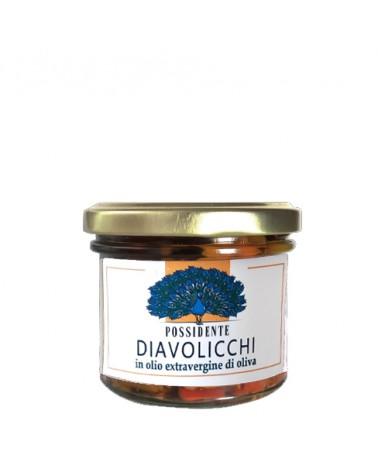 Peperoncino piccante in olio extravergine di oliva 90g